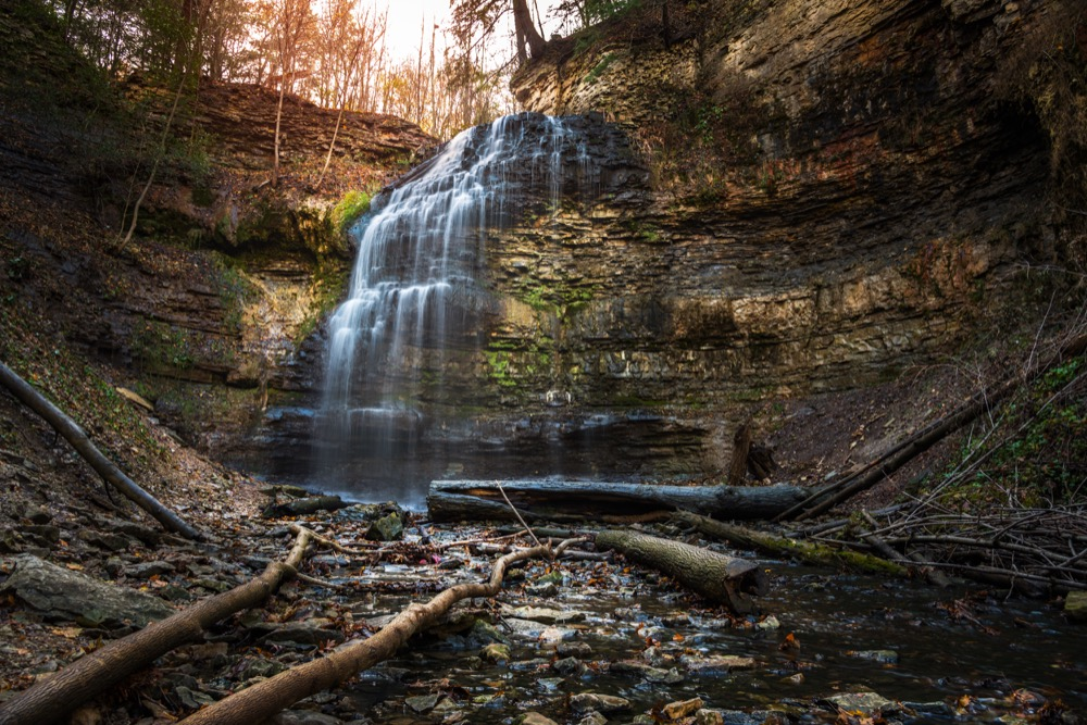 Tiffany Falls in Hamilton, Ontario